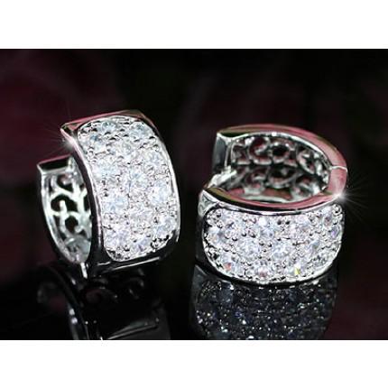 Серьги Carat Simulated Diamonds Huggie Earrings SE334