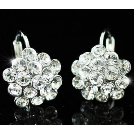 Серьги Bling Flower Earrings use Swarovski Crystal SE193