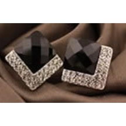 Серьги Ромб с кристаллами Preciosa (tb359)