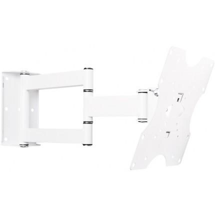 кронштейн Квадо К-42 белый. Наклонно-поворотное (2 колена) настенное крепление для ТВ с VESA до 200х200мм