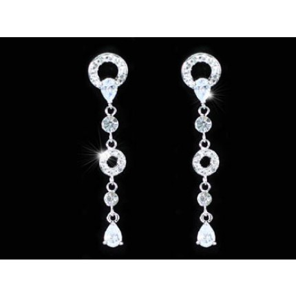Серьги Dangle CZ Cubic Zirconia Stone Earrings SE288