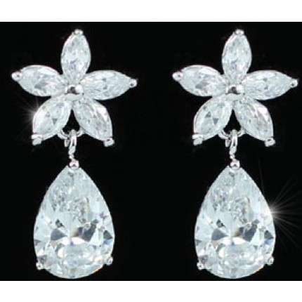 Серьги Crown Earrings use Swarovski Crystal SE292
