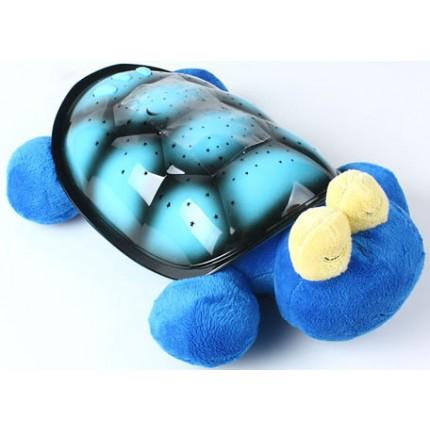 Проектор звездного неба, ночник Большая музыкальная Черепаха (синяя)