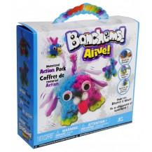Конструктор-липучка Bunchems Alive (Банчемс моторизованный) 300 деталей Разноцветный