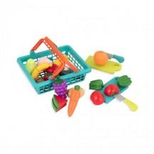 Игровой набор для двоих - ОВОЩИ-ФРУКТЫ НА ЛИПУЧКАХ (в корзинке, 37 предметов) от Battat Lite - под заказ