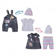 Набор одежды для куклы BABY BORN - ДЖИНСОВОЕ НАСТРОЕНИЕ  (2 в ассорт.) от Zapf - под заказ