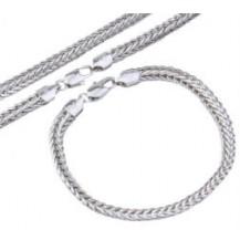 Набор цепочка и браслет белая позолота (GF797)