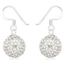 Серьги TN890 Серебро 925 Swarovski Crystals (шарик 12мм)