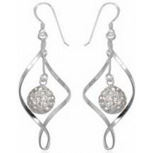 Серьги TN891 Серебро 925 Swarovski Crystals