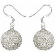 Серьги TN892 Серебро 925 Swarovski Crystals