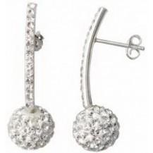 Серьги TN896 Серебро 925 Swarovski Crystals