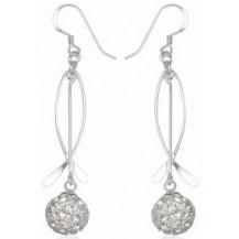 Серьги TN924 Серебро 925 Swarovski Crystals