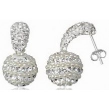 Серьги TN936 Серебро 925 Swarovski Crystals