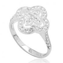 Серебряное кольцо TN946 с кристаллами Swarovski размер 17