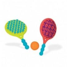Игровой набор - ПЛЯЖНЫЙ ТЕННИС: ДВА-В-ОДНОМ (ракетки с присосками, мячик) от Battat - под заказ
