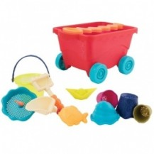 Набор для игры с песком и водой - ТЕЛЕЖКА МАНГО (11 предметов) от Battat - под заказ