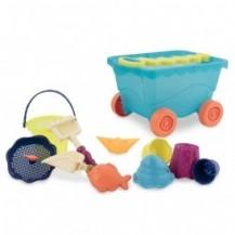 Набор для игры с песком и водой - ТЕЛЕЖКА МОРЕ (11 предметов) от Battat - под заказ