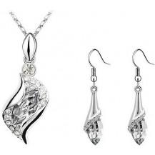 Набор с австрийскими кристаллами (ab69) Кулон, цепочка, серьги
