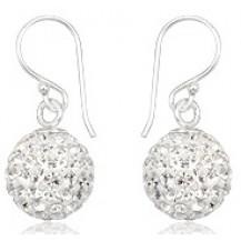 Серьги TN3038. Серебро 925. Swarovski Crystals (10мм)