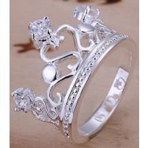 Кольцо Корона Tiffany Размер 18 (TF3). Покрытие серебром 925