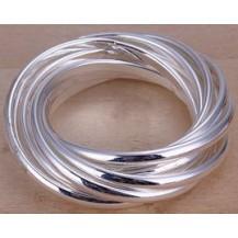 Кольцо Tiffany Размер 18 (TF27). Покрытие серебром 925