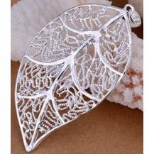 Кулон Лепесток Tiffany (TF34). Покрытие серебром 925