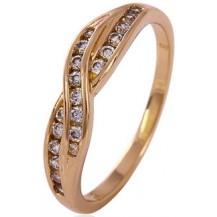 Позолоченное кольцо с цирконами (GF54) Размер 17