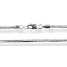 Серебряная цепочка 45см ширина 0.8см (плетение овальное змея)