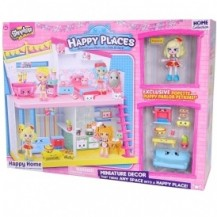 Игровой набор НAPPY PLACES S1 – СЧАСТЛИВЫЙ ДОМ (дом, кукла, 9 петкинсов) от Happy Places - под заказ