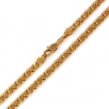 Мужская цепочка позолота (ширина 4мм) (GF150)