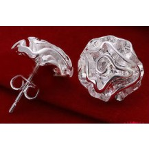 Серьги Tiffany (TF68). Покрытие серебром 925