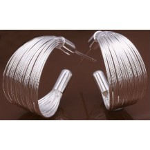 Серьги Tiffany (TF64). Покрытие серебром 925