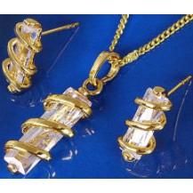 Набор позолота кристалл с цирконами (GF250)