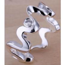 Кольцо Tiffany (TF78). Покрытие серебром 925 размер 18