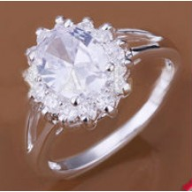 Кольцо Tiffany (TF72). Покрытие серебром 925 размер 17