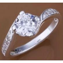 Кольцо Tiffany (TF73). Покрытие серебром 925 размер 17