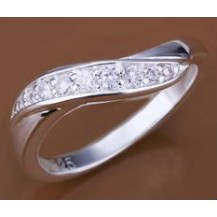 Кольцо Tiffany (TF74). Покрытие серебром 925 размер 17,18
