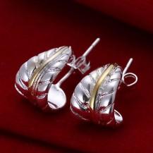 Серьги Tiffany (TF61). Покрытие серебром 925