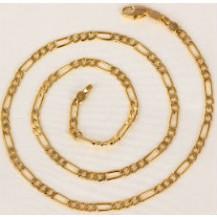 Позолоченная цепочка, комбинированное плетение (GF304)