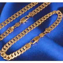 Набор накат золотом цепочка и браслет (GF493