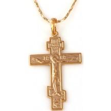 Крестик позолота Gold Filled (GF477)