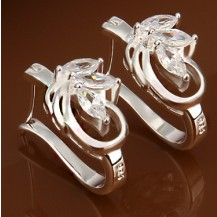 Серьги лепестки Tiffany (TF117). Покрытие серебром 925