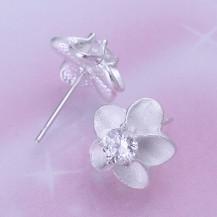 Серьги Цветы Tiffany (TF122). Покрытие серебром 925
