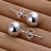 Серьги Tiffany простые шарики (TF138). Покрытие серебром 925