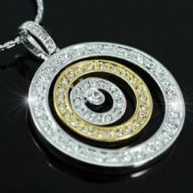 Кулон Designer Circles Necklace use Swarovski Crystal SN119
