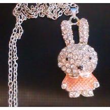 Подвеска на цепочке Bunny (tb543) оранж.