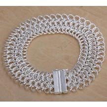Браслет звенья Tiffany (TF-H005). Покрытие серебром 925