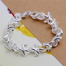 Браслет крученые звенья Tiffany (TF-H042). Покрытие серебром 925