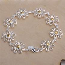 Браслет цветы Tiffany (TF-H069). Покрытие серебром 925