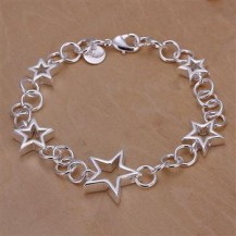 Браслет звезды Tiffany (TF-H178). Покрытие серебром 925